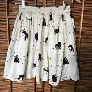 Hysteric Glamour Mini skirt w monkeys playing pool